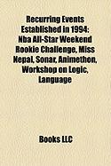 Recurring Events Established in 1994: NBA All-Star Weekend Rookie Challenge