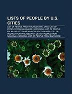 Lists of People by U.S. Cities: List of People from Youngstown, Ohio, List of People from Milwaukee, Wisconsin